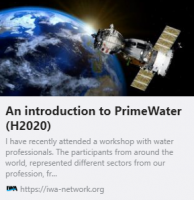 Apostolos Tzimas, Project Lead of PrimeWater, a Horizon 2020 project posted on International Water Association (IWA) Network